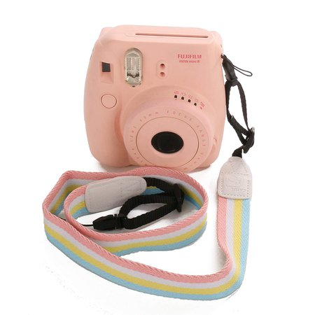 fujifilm instax mini 8 with rainbow strap