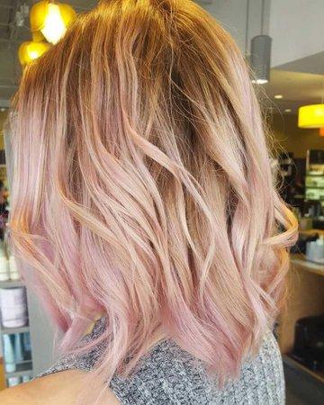 Blonde & Light Pink hair