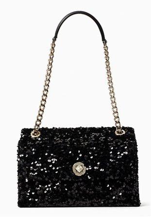Black sequins handbag Kate Spade