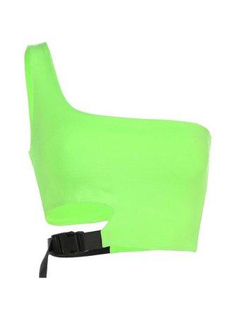 neon one shoulder