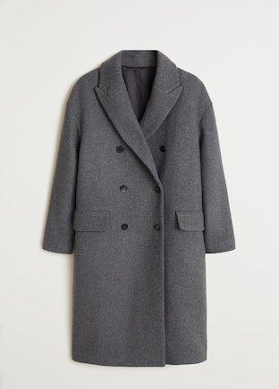 Παλτό μάλλινο διπλή σειρά κουμπιών - Γυναίκα | Mango ΜΑΝΓΚΟ Ελλάδα
