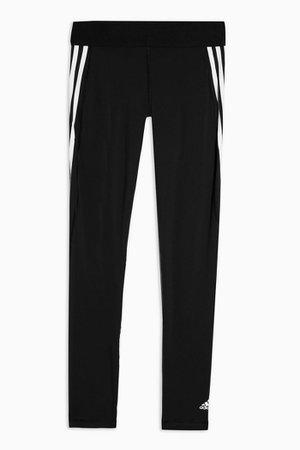 Black Three Stripe Leggings by Adidas | Topshop
