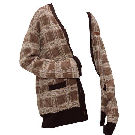 brown plaid cardigan