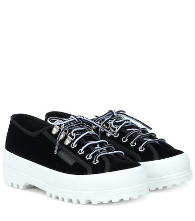 X Superga Griffith Low velvet sneakers