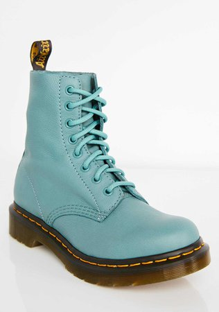 Dr. Martens 1460 Pascal Pale Teal Boots | Dolls Kill