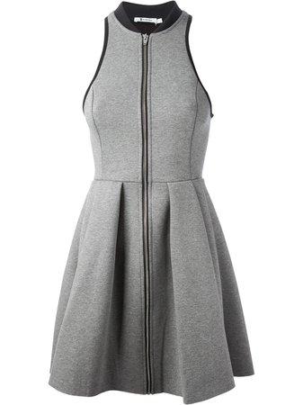 alexander wang grey zip front dress