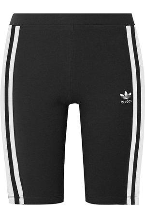 adidas Originals | Striped stretch-cotton jersey shorts | NET-A-PORTER.COM