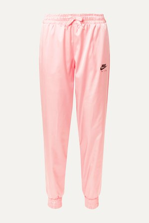 Baby pink Air satin track pants | Nike | NET-A-PORTER