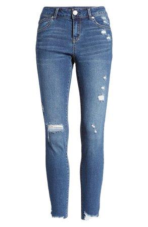 1822 Denim Re:Denim Ripped High Waist Ankle Skinny Jeans (Giana) | Nordstrom