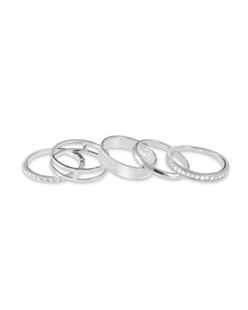 silver ring set - Pesquisa Google