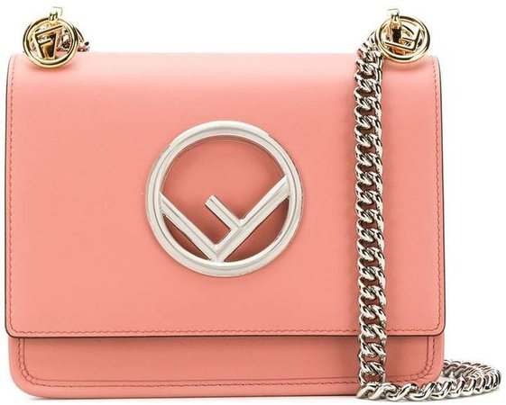 pink kan I F small leather shoulder bag