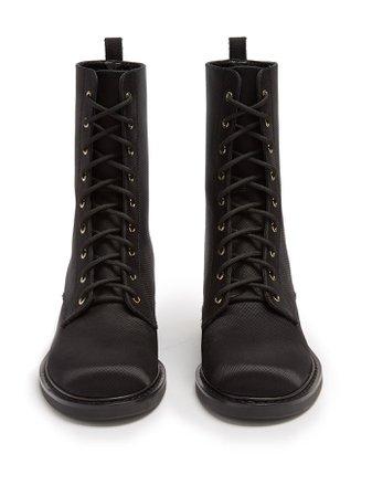 Casati pearl-heeled satin-drill ankle boots | Nicholas Kirkwood | MATCHESFASHION.COM
