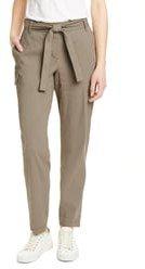 Belted Linen Blend Pants