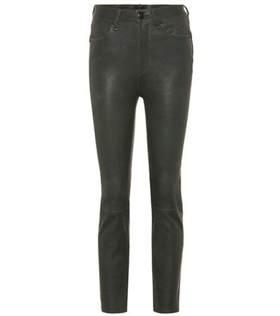 Ankle Cigarette leather pants