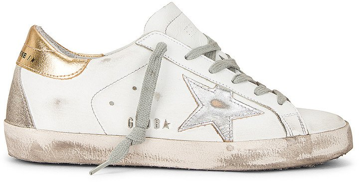 Superstar Sneaker in White, Silver, & Gold | FWRD
