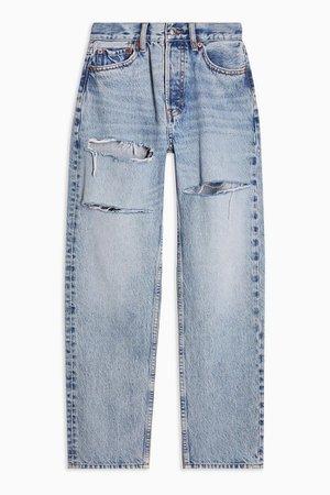 Bleach Slash Rip Dad Jeans | Topshop