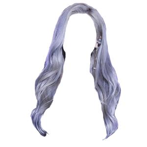 grey/gray blue hair png