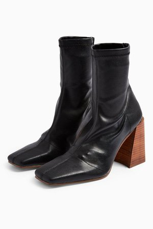 HAMMOND Black Sock Boots | Topshop