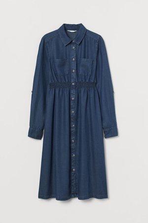 MAMA Lyocell Shirt Dress - Blue