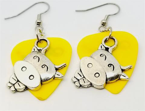 Cow Charm Guitar Picks Earrings - Pick Your Color – SimplyRaevyn