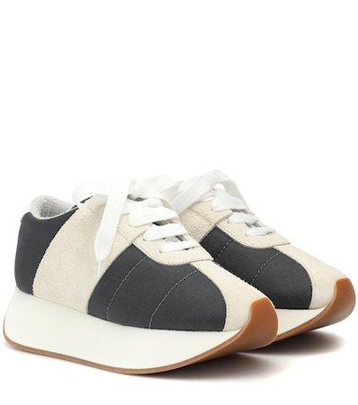 Big Foot mesh and suede sneakers