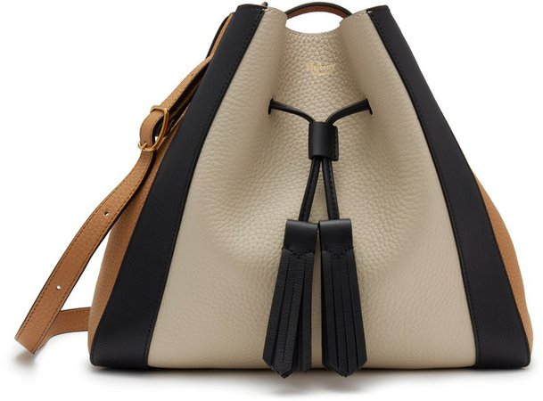 Small Millie Colorblock Leather Tote