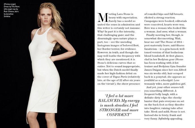 Dutch Models: Cover story: Lara Stone for The Edit (July 2014)