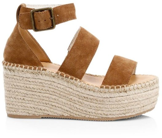 Palma Suede Espadrille Platform Wedge Sandals