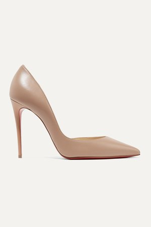 Beige Iriza 100 leather pumps | Christian Louboutin | NET-A-PORTER