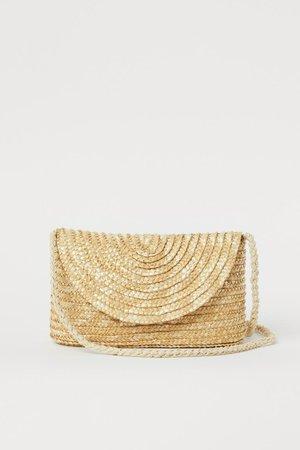 Small Straw Shoulder Bag - Light beige - Ladies | H&M US