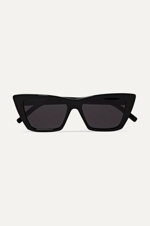 SAINT LAURENT | Mica cat-eye acetate sunglasses | NET-A-PORTER.COM