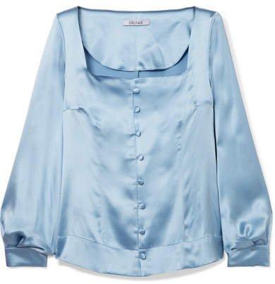 Deitas - Gaia Silk-satin Blouse - Blue
