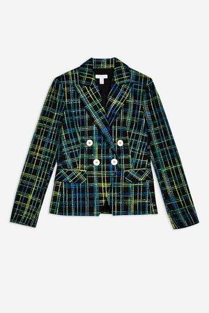 Boucle Check Jacket - Jackets & Coats - Clothing - Topshop