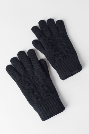 Cable Knit Chenille-Lined Glove   Urban Outfitters