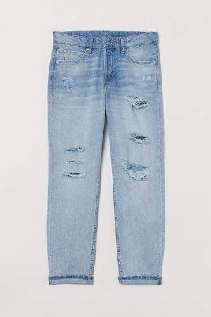 Boyfriend Low Jeans - Blue