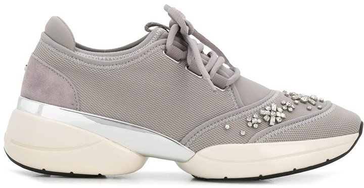 Lush crystal-embellished sneakers