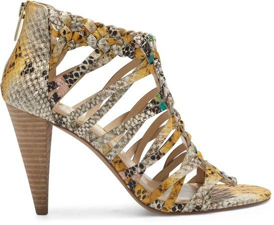 Alaizah Woven Cone-Heel Sandal
