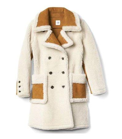 Gap Shearling Suede Coat