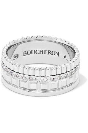 Boucheron | Quatre Radiant Edition Small 18-karat white gold diamond ring | NET-A-PORTER.COM