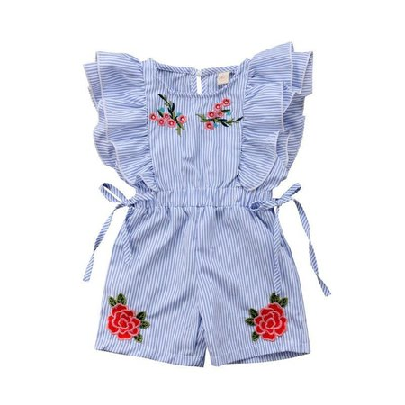 Toddler Girl Floral Ruffled One Piece Romper – The Trendy Toddlers