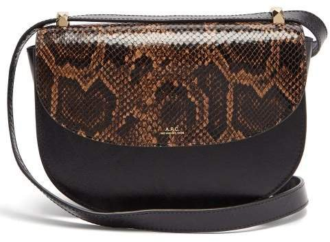 Geneve Leather Cross Body Bag - Womens - Black Multi