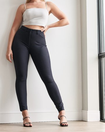 High Waisted Supersoft Twill Curvy Skinny Pant