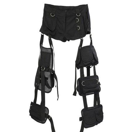 NAMILIA BLACK DECONSTRUCTED PANTS / BLACK