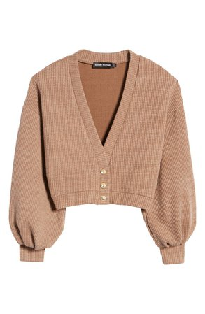 Lavish Alice Balloon Sleeve Crop Sweater | Nordstrom