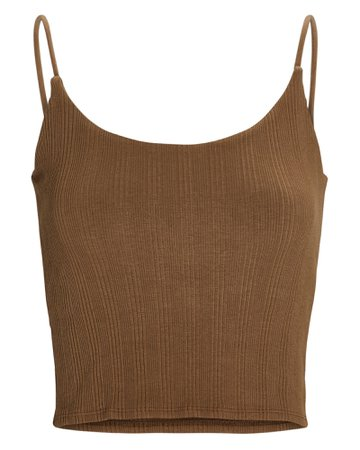 Enza Costa Strappy Cropped Tank Top | INTERMIX®