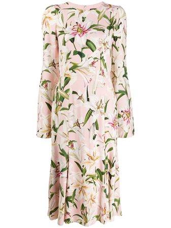 Dolce & Gabbana Blommig Midiklänning - Farfetch
