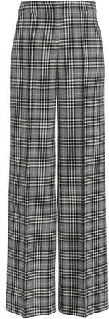 Oscar de la Renta High-Rise Plaid Wool-Blend Pants