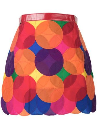 Junya Watanabe Comme Des Garçons Vintage Fluo Circle Accumulation Skirt - Farfetch