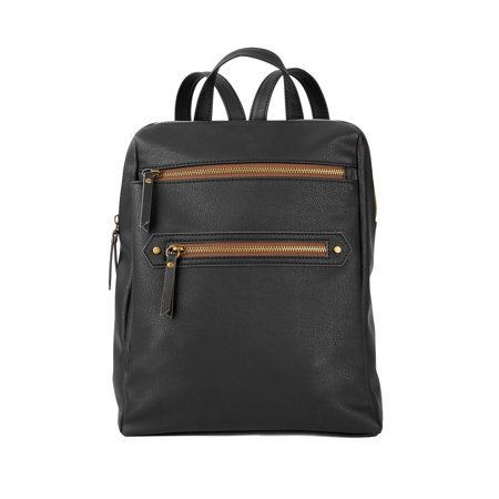 Time and Tru - Time & Tru Cucamonga Backpack, Black - Walmart.com black