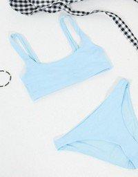 Weekday low-rise bikini brief in ice blue   ASOS